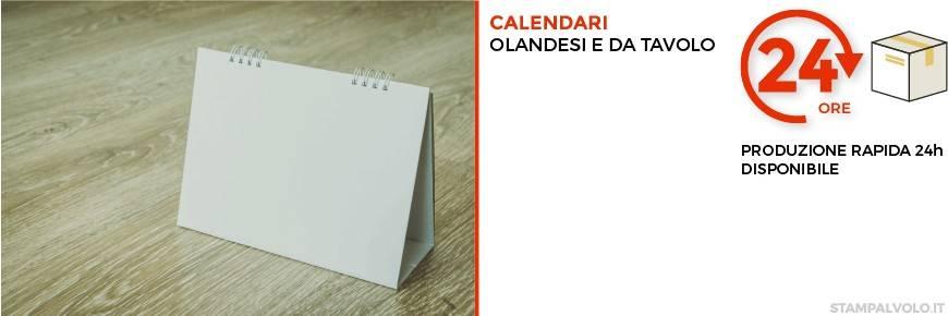 Stampa onine i tuoi Calendari olandesi o da tavolo su Stampalvolo